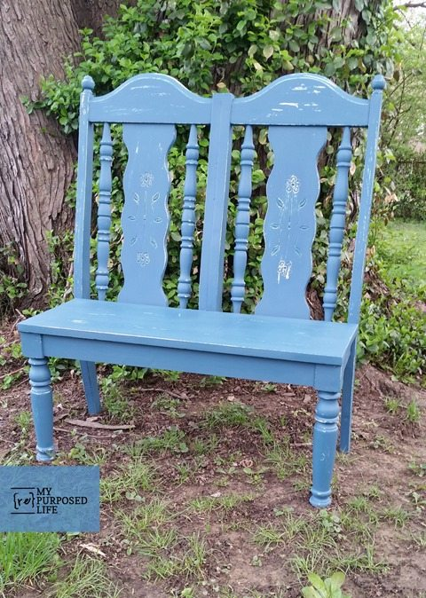 my-repurposed-life-double-chair-small-garden-bench
