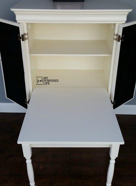 kids art desk repurposed armoire my