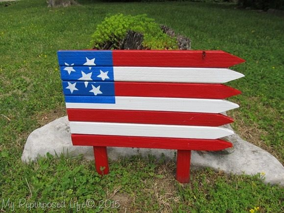 Americana Flag with Home Depot and DecoArt Patio Paints