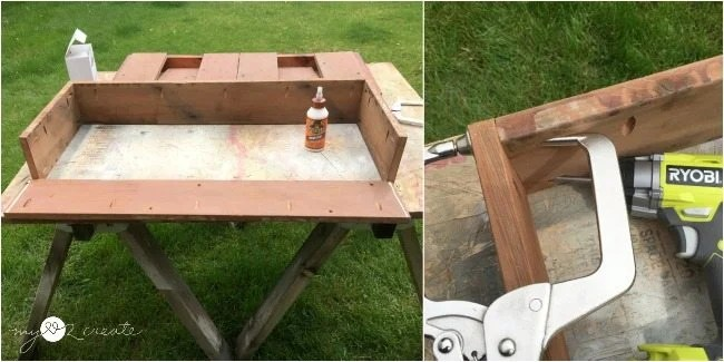 adding last side to finish building box