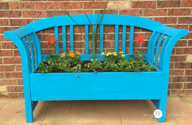 bench planter front view
