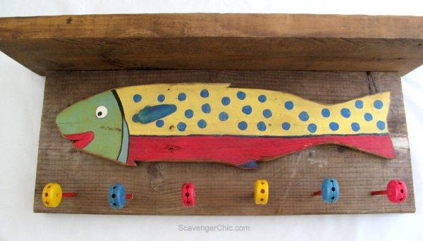 Reclaimed Wood Coat Rack using Tinker toys