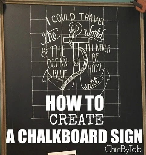 How to create a chalkboard sign