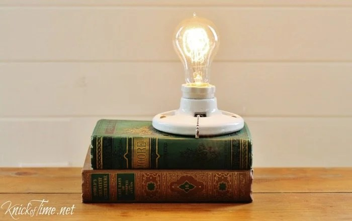 upcycled book light