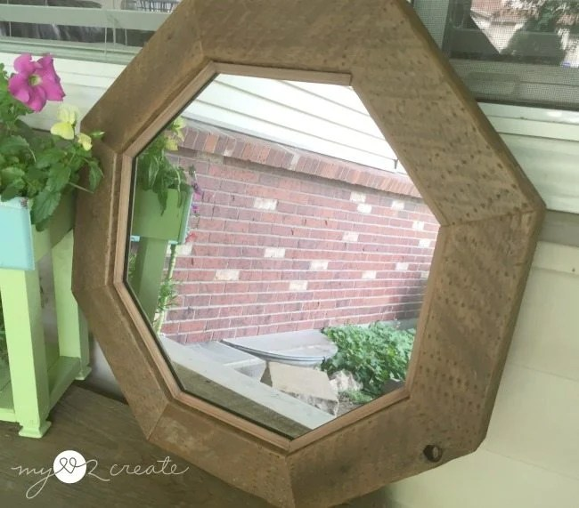 Semi front view of mirror