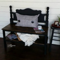 Black Bench For Kitchen Table Vintage Island 50 Headboard Ideas - My Repurposed Life®