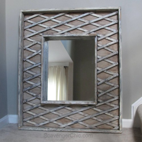 Repurposed Baby Gate Mirror diy
