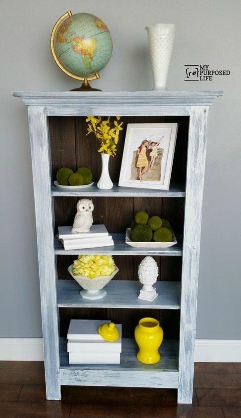 MyRepurposedLife tall diy window cabinet bookshelf