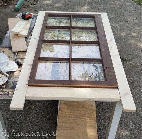 diy tall window cabinet design phase