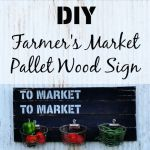 Farmer's Market Sign | Produce Holder