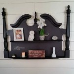 Wall Shelf made from a Headboard