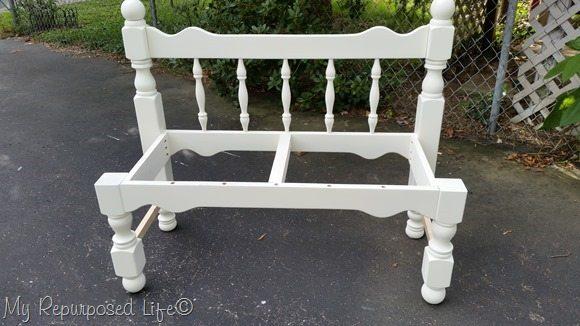white-headboard-bench-frame