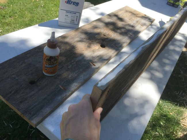 wood glue for attaching planks
