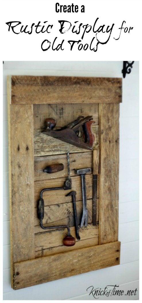 Rustic Tools Display