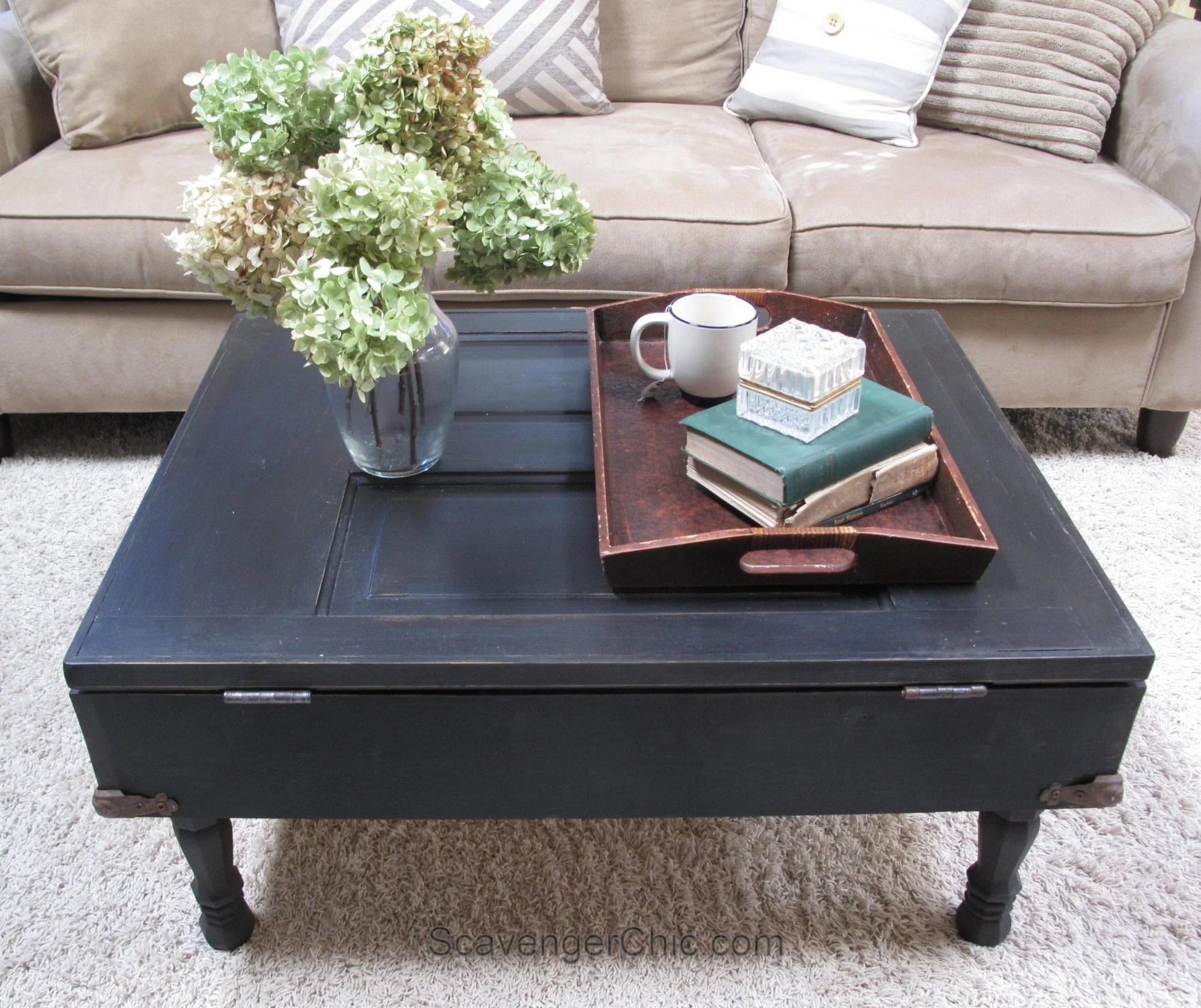 vintage door coffee table diy my