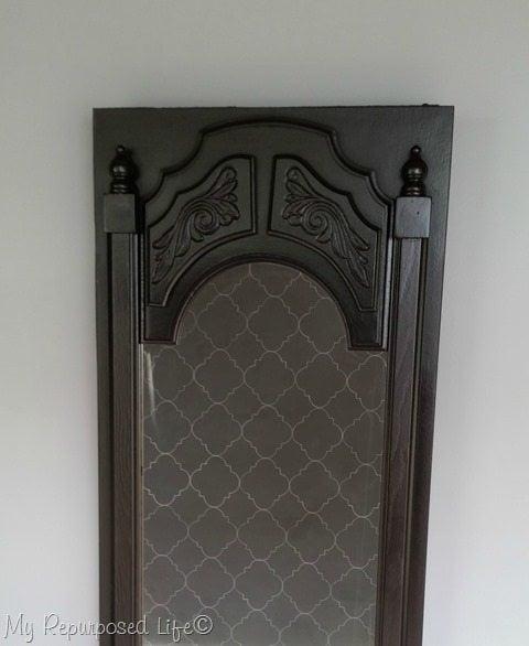 entryway-table-mirrored-repurposed-door