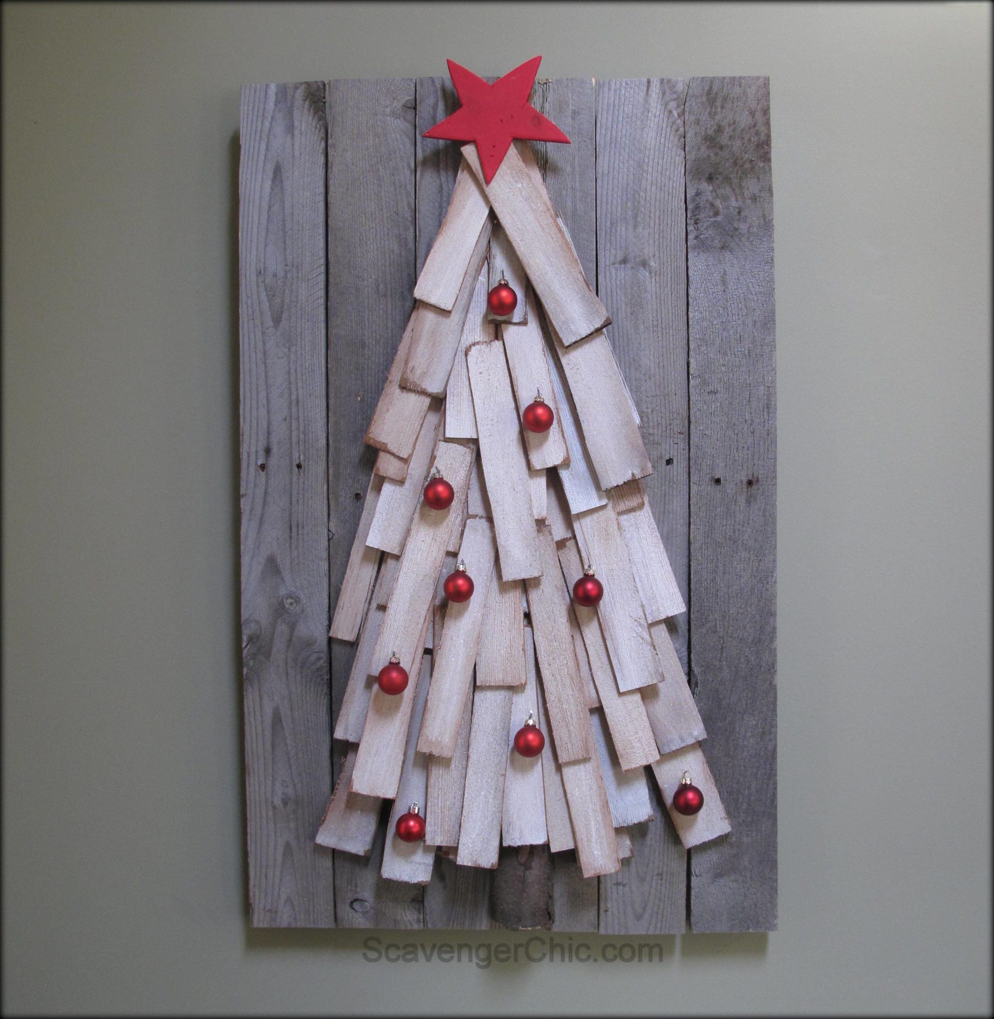 Pallet Wood Christmas Tree.Pallet Wood Christmas Tree Diy My Repurposed Life Rescue