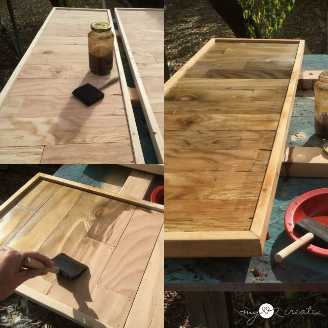 natural stain using vinegar and steel wool