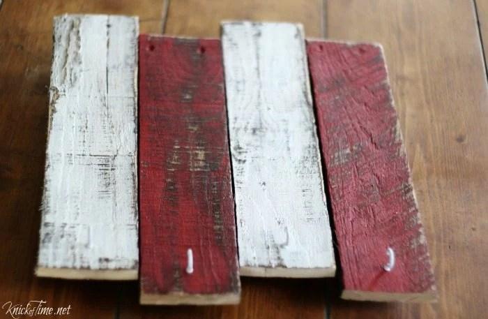 scrap wood stocking hanger tutorial - Knick of Time