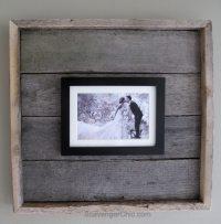 Easy Pallet Wood Frame - My Repurposed Life