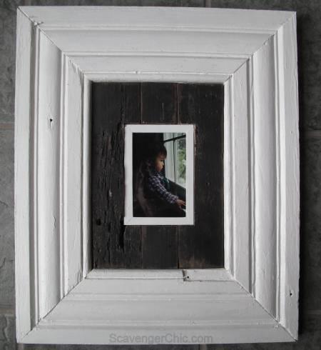 Vintage Molding and Pallet wood Frame