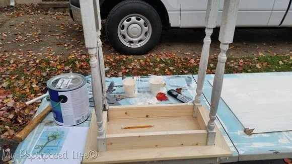 cabinet door table-dry fit with spindles