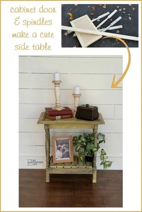 Cabinet Door Table Easy Build My Repurposed Life