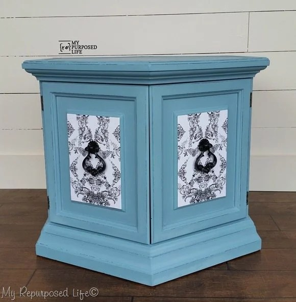 my-repurposed-life-blue-hexagon -table