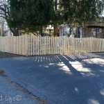 pickets and jig  DIY Picket Fence