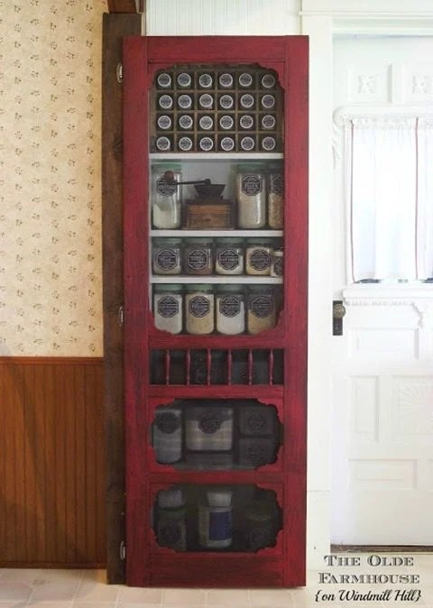 Pantry door from an old screen door