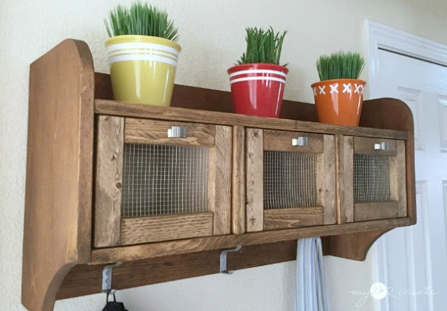 build your own hanging storage shelf