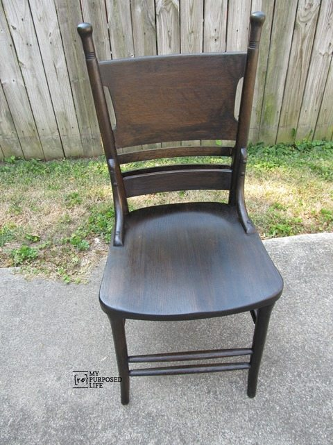 antique pew chair restoration MyRepurposedLife.com