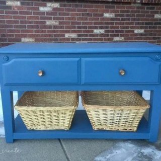 Repurposed Storage bench front view