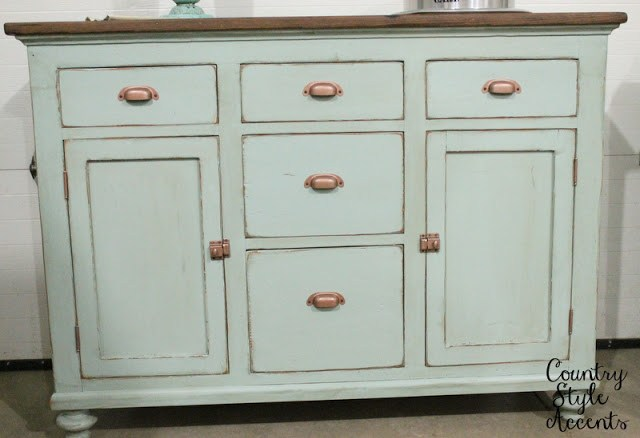 refinished kitchen cabinet buffet
