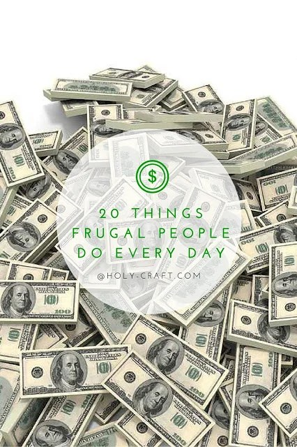 20 things frugal people do