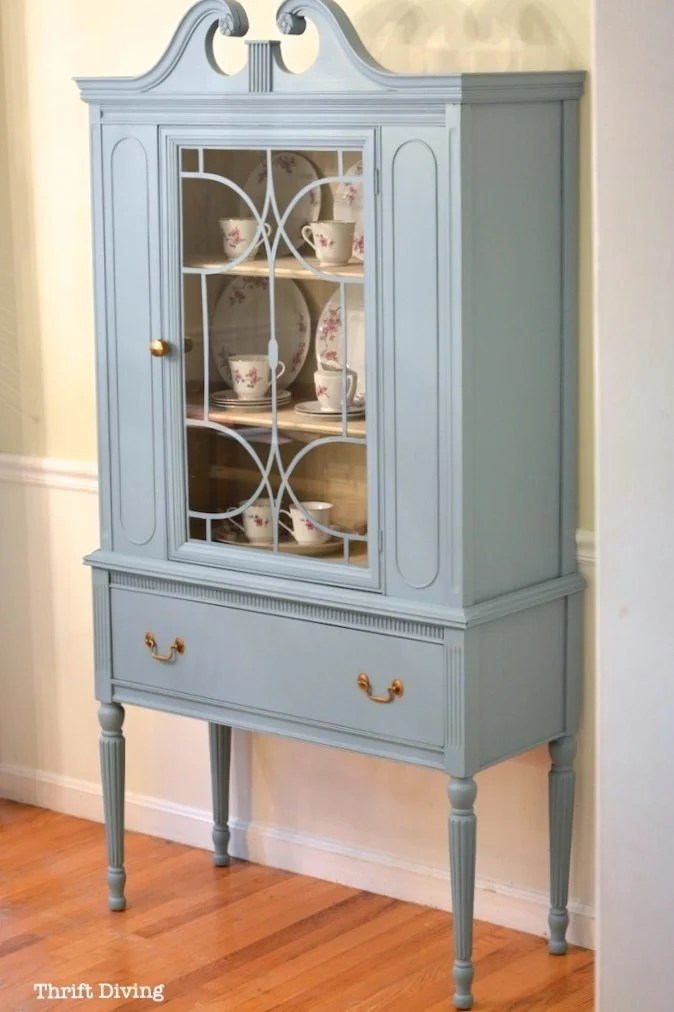 Red Side Table  repurposed sewing cabinet  My Repurposed