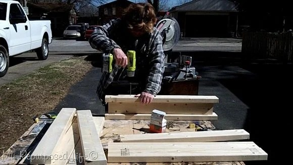 attach 2x4's to ibeam