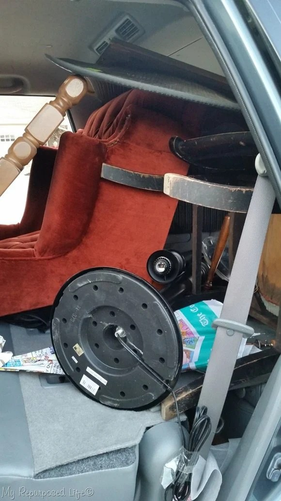 car loaded with stuff