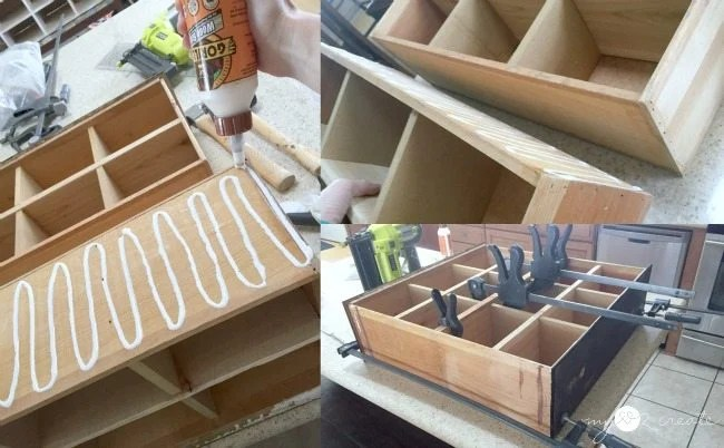 glue and clamp drawers together
