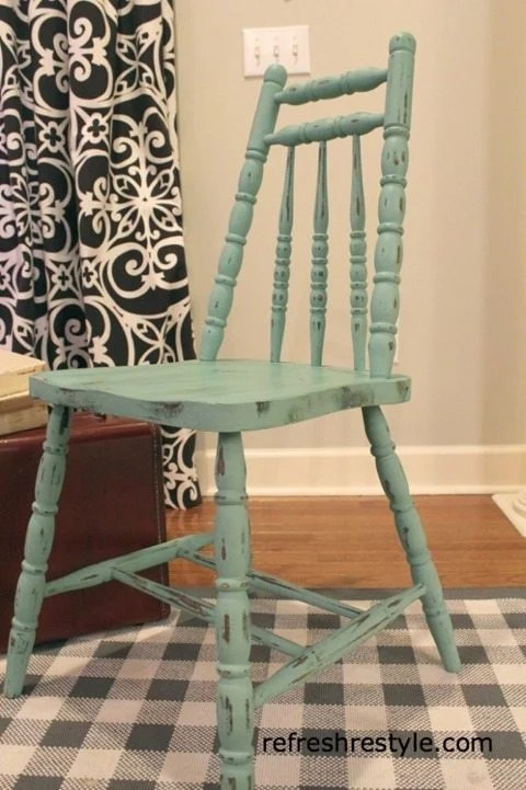 green chair makeover
