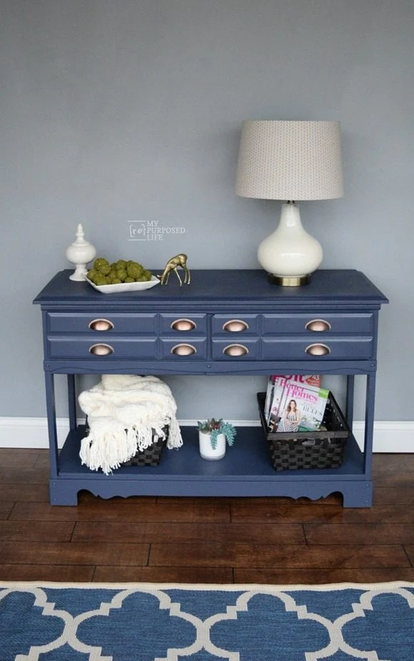 Sewing Cabinet Repurposed Desk
