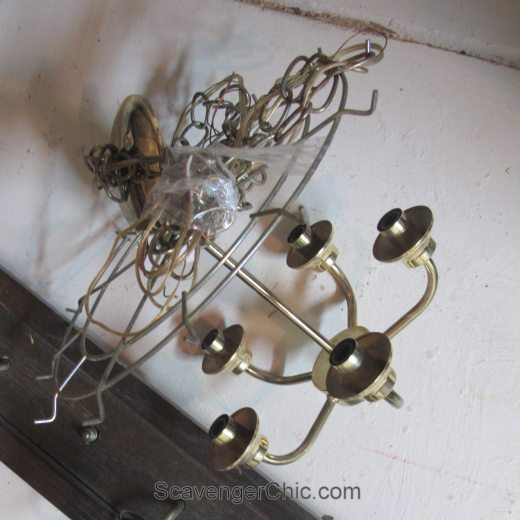 Recycled Book Pages Chandelier, Upcycled Chandelier