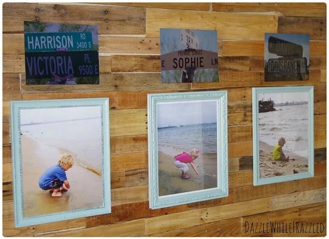 pallet wall photo display