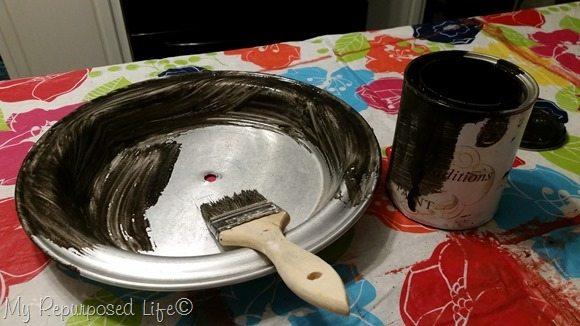 black bean painted tin