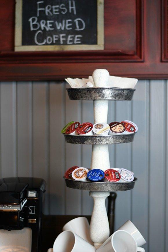 coffee station tiered stand MyRepurposedLife.com