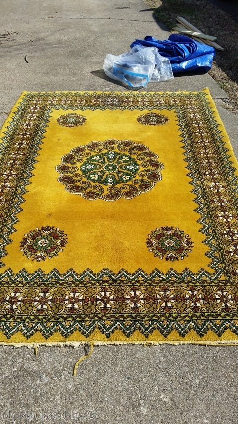 yellow rug