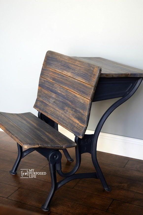 vintage school desk chair combo plastic folding chairs kmart old metal - hostgarcia