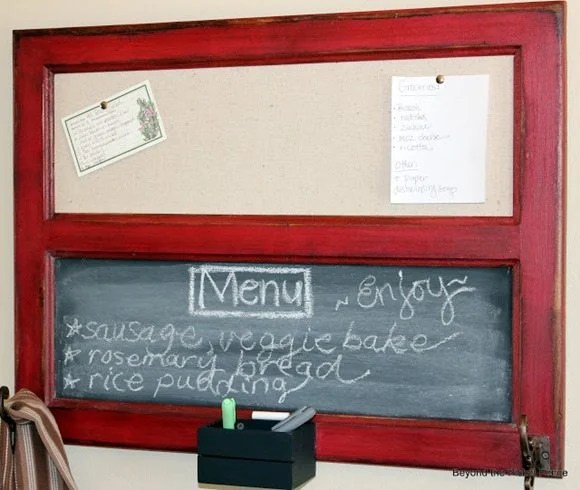 cupboard door window chalkboard memo