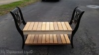 End of Bed Bench | made from Chairs - My Repurposed Life