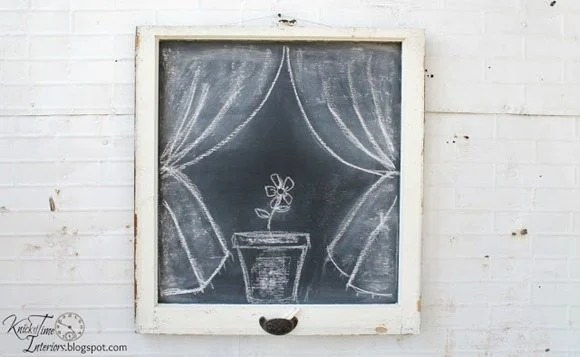 farmhouse window chalkboard